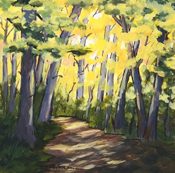 """""""Autumn Woods"""" original fine art by Anna Vreman"""