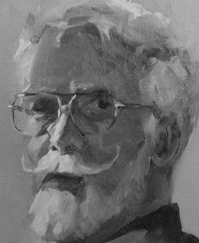 """Steve black/ white Details"" original fine art by Doug Carter"