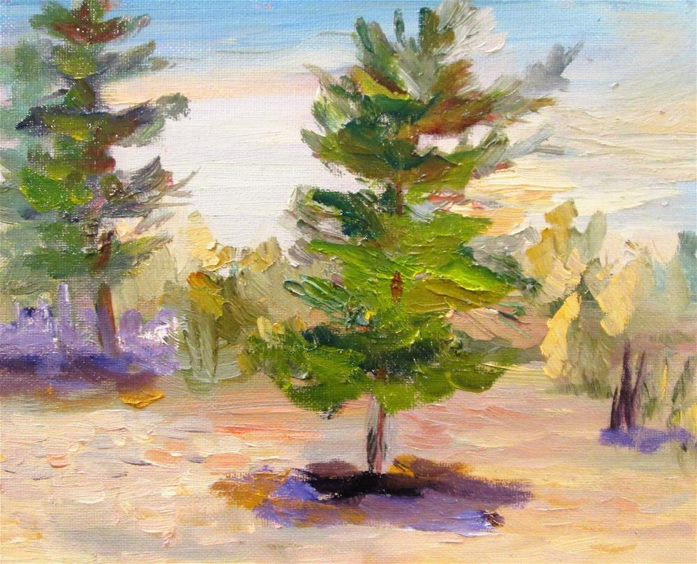 """Sand and Pines No. 2"" original fine art by Delilah Smith"