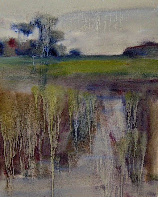 """Storms over the Marsh"" original fine art by Karen Margulis"