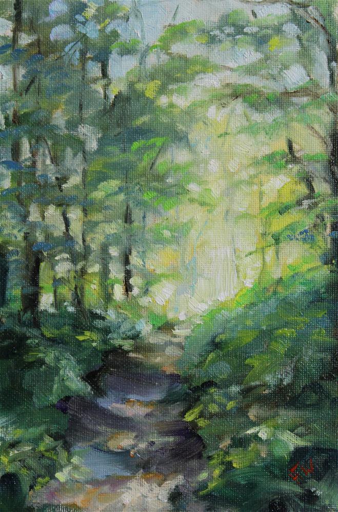 """Rock Park Forest"" original fine art by H.F. Wallen"