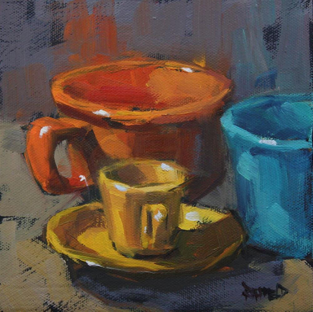 """Fiestaware Colors"" original fine art by Cathleen Rehfeld"