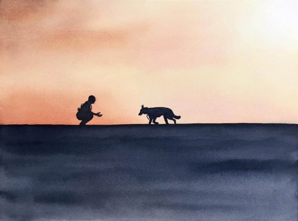 """""""Good Boy"""" original fine art by Melissa Gresham"""