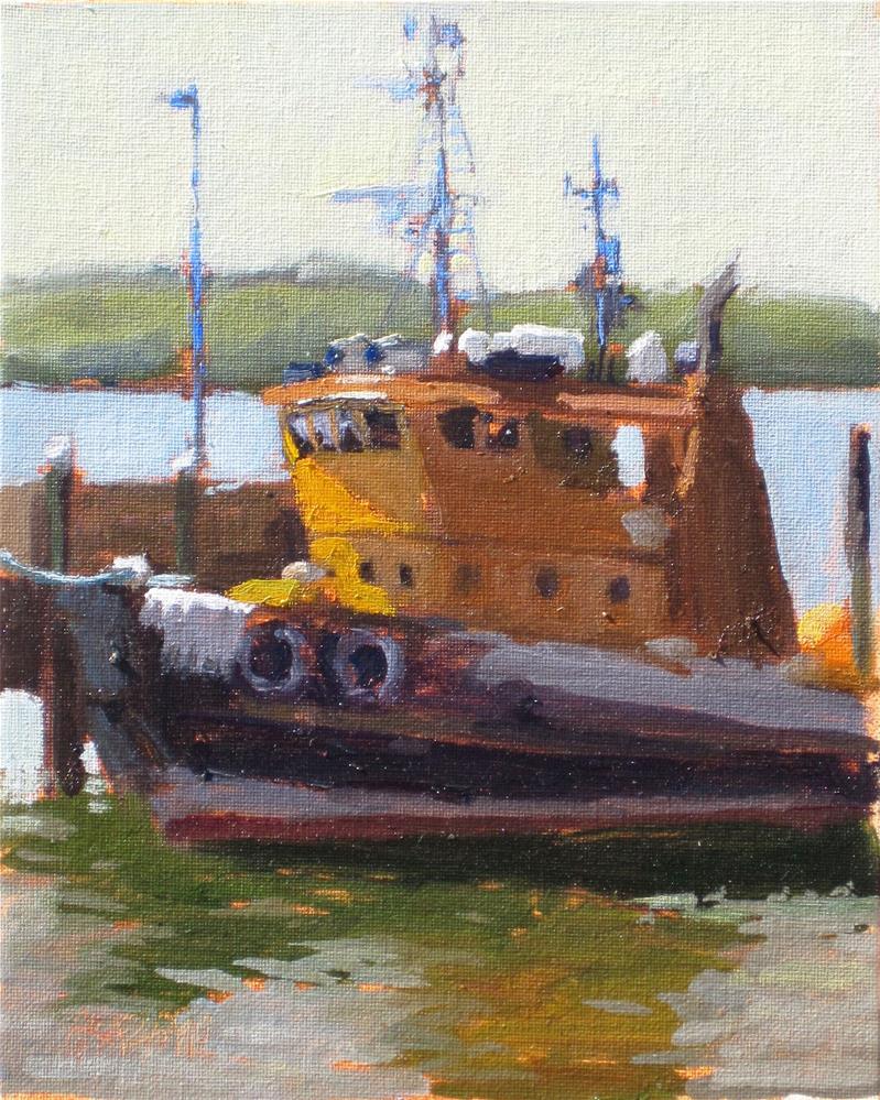 """tugboat"" original fine art by Dan Graziano"