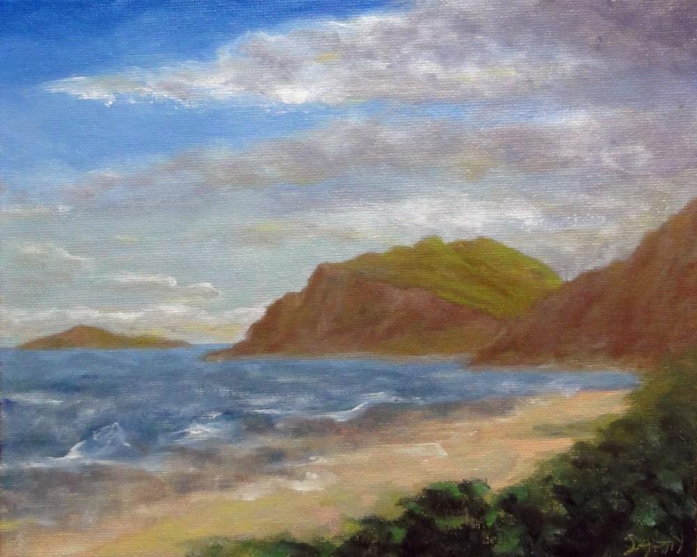 """""""Bellows Beach Hawaii"""" original fine art by Dalan Wells"""