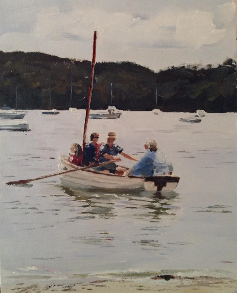 """""""A Day on the River"""" original fine art by James Coates"""