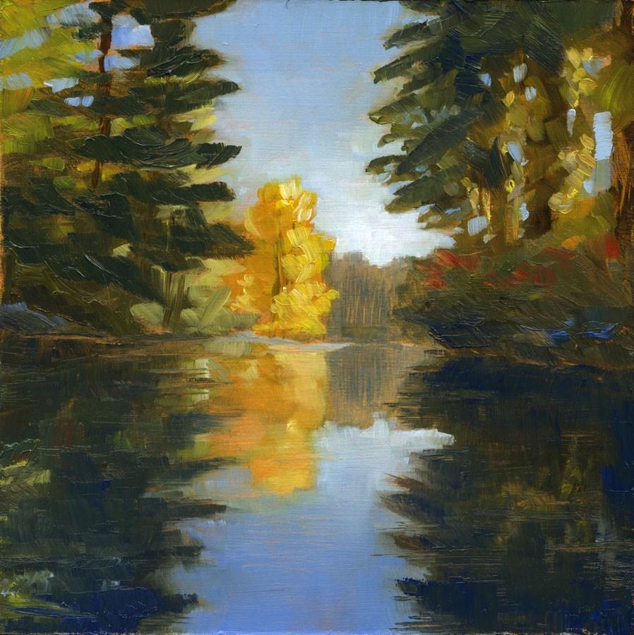 """""""Madawaska Peek"""" original fine art by Eileen Hennemann"""