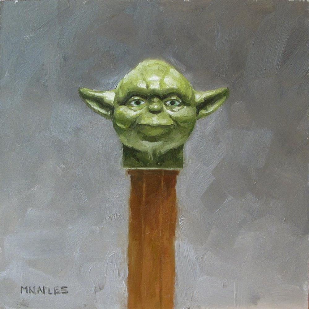 """Yoda Pez"" original fine art by Michael Naples"