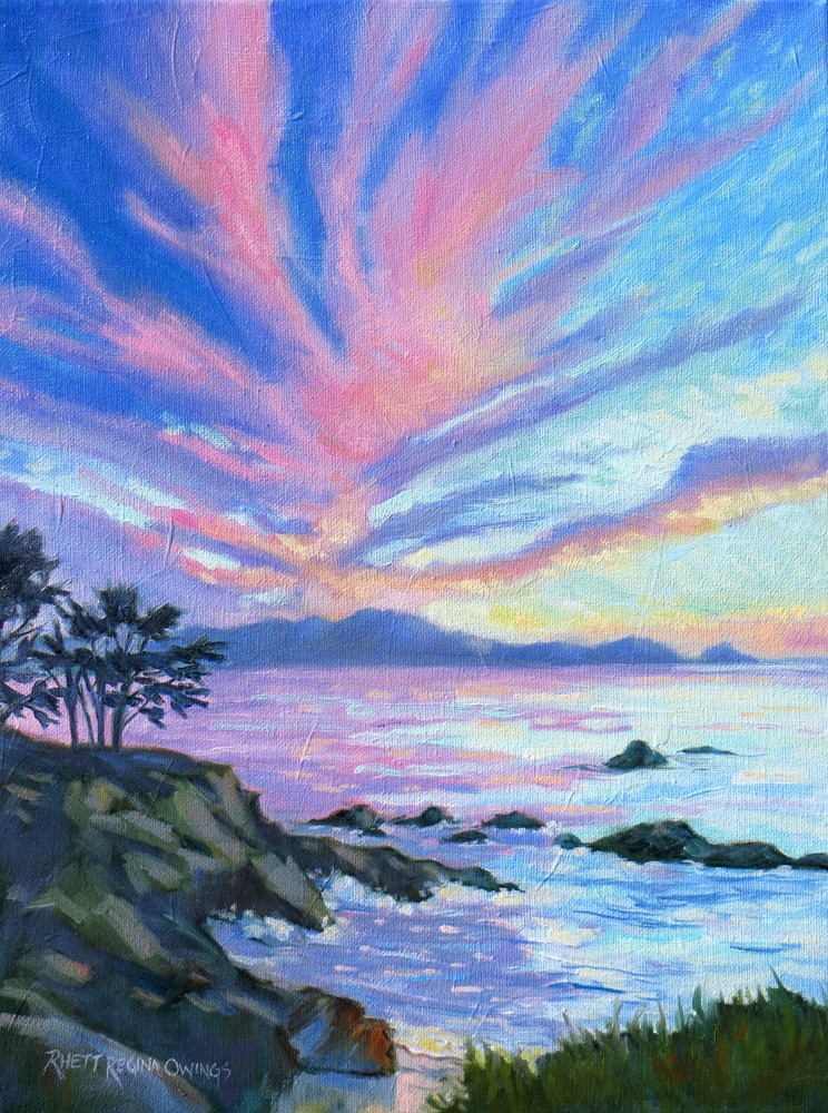 """Sunset Over Point Lobos"" original fine art by Rhett Regina Owings"