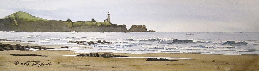 """""""Yaquina Head Afternoon"""" original fine art by Andy Sewell"""