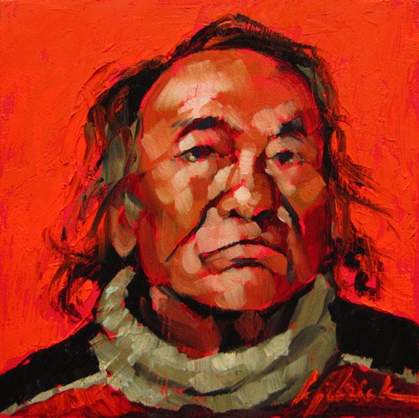 """100 Faces, No. 68"" original fine art by Karin Jurick"