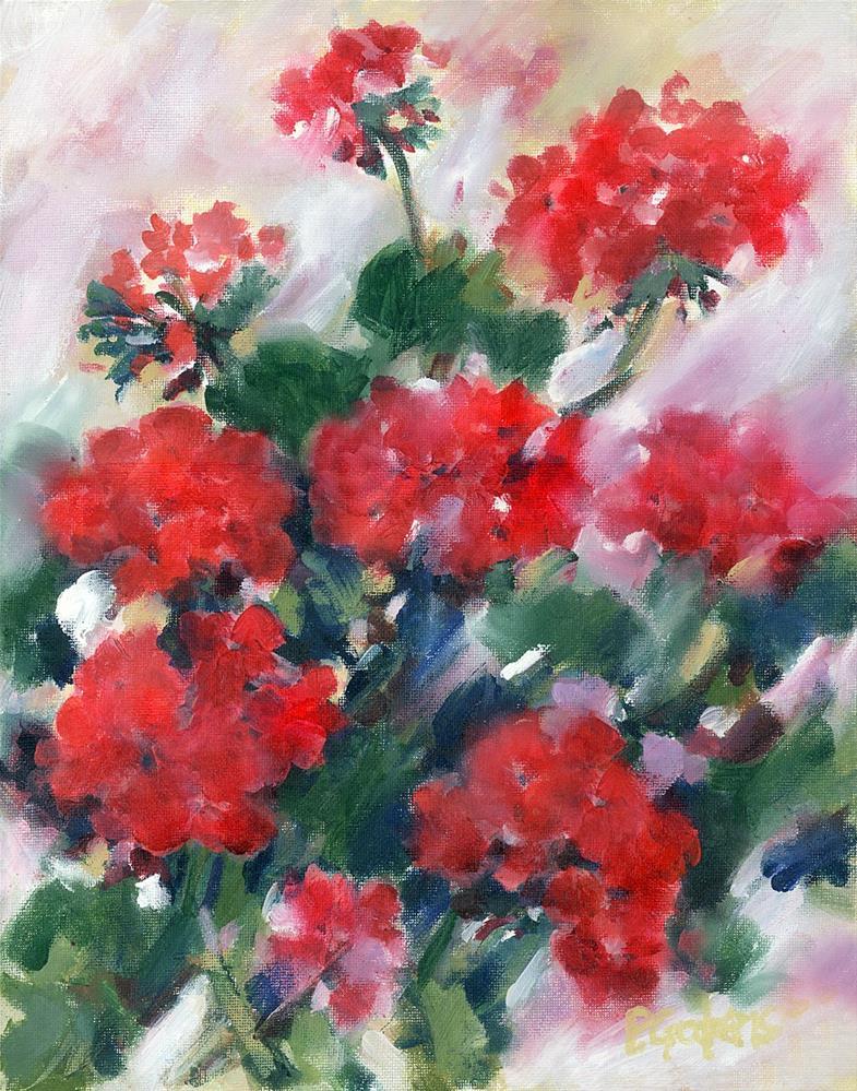 """""""Renee's Reds"""" original fine art by Pamela Gatens"""