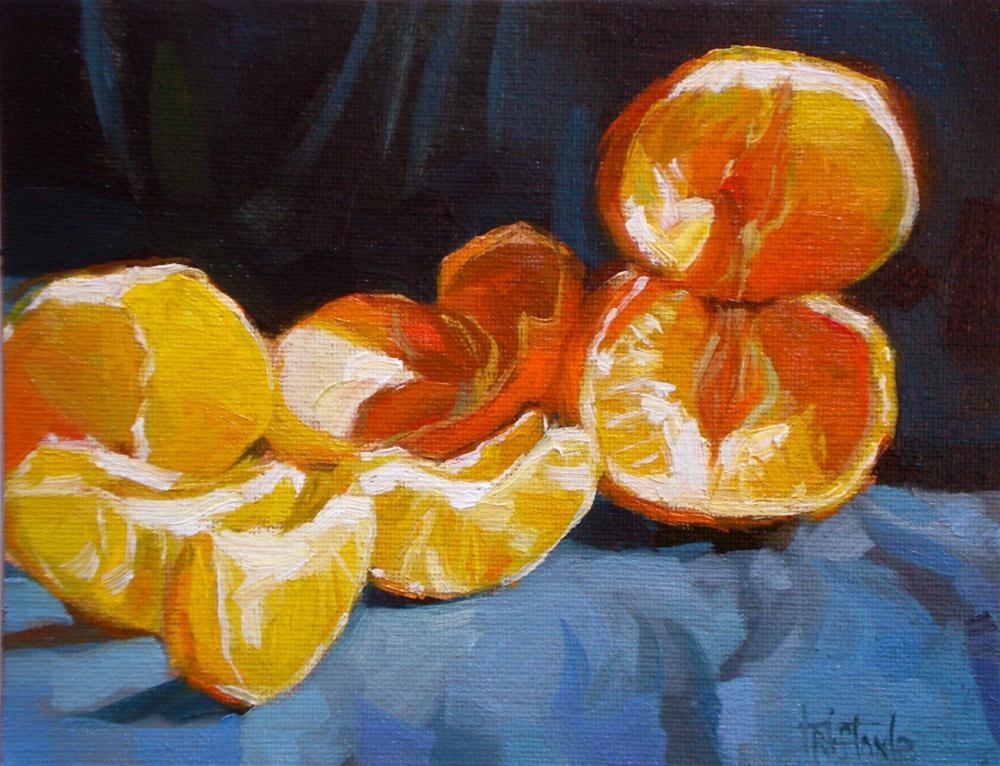 """Piled Tangerines"" original fine art by Víctor Tristante"
