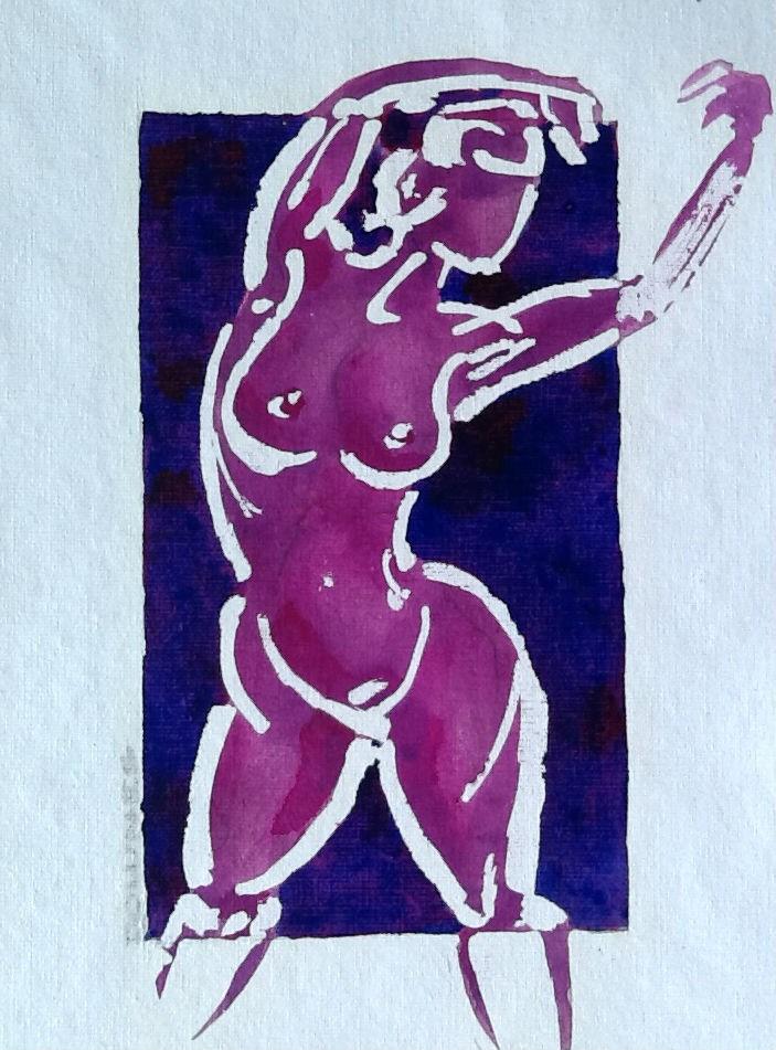 """017 NUDE 3"" original fine art by Trevor Downes"