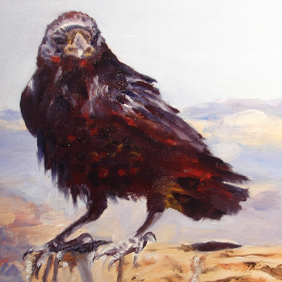 """Nevermore"" original fine art by Linda Lowery"