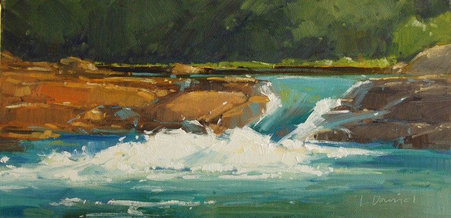 """River Rapids"" original fine art by Laurel Daniel"
