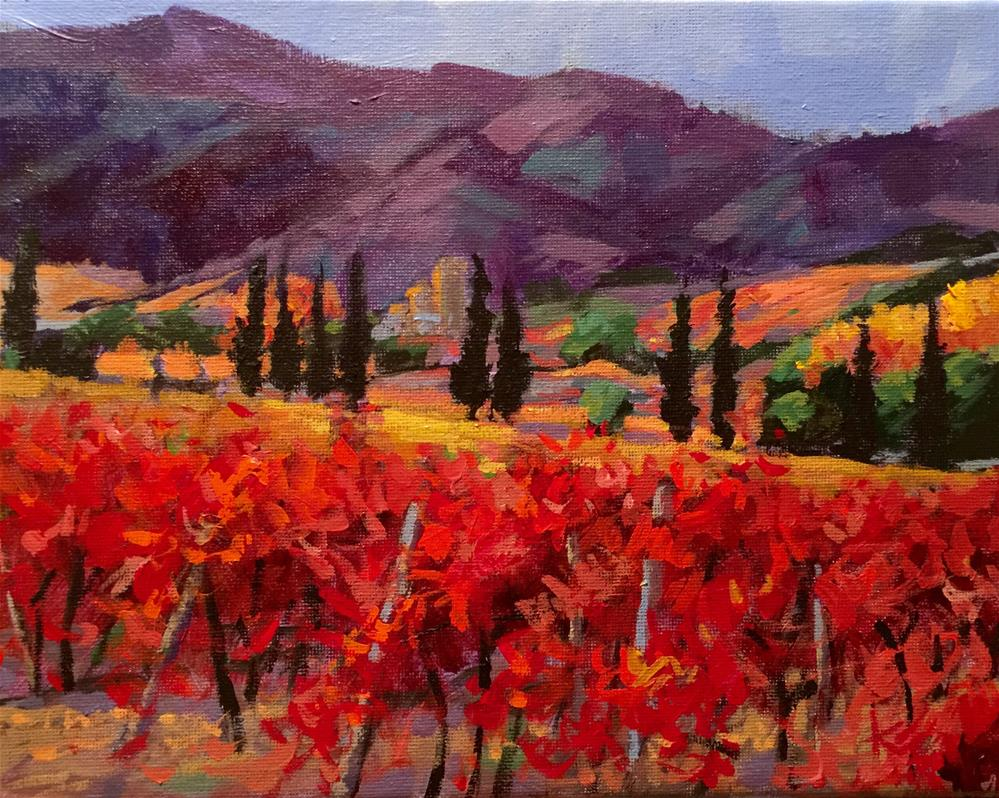 """Tuscany in Fall"" original fine art by Krista Eaton"