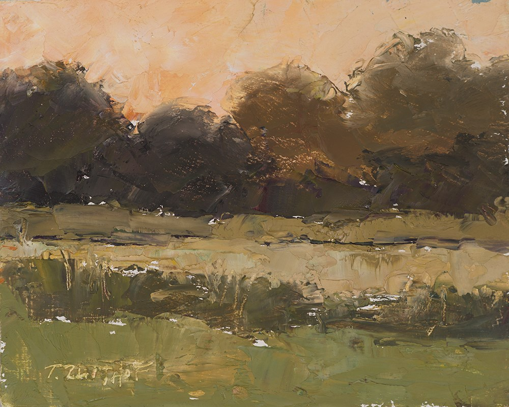 """Evening Peach"" original fine art by Todd Zuithof"
