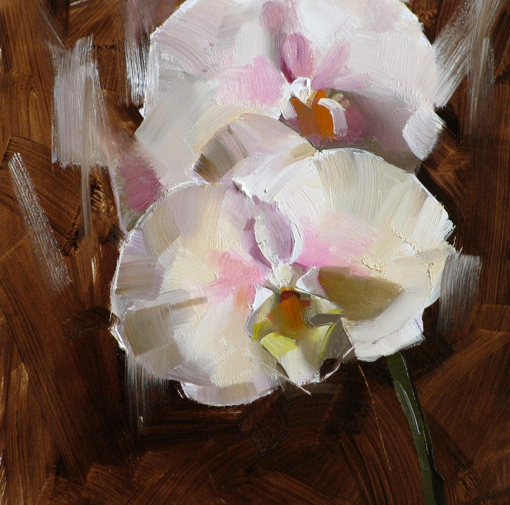"""Orchid Study 2"" original fine art by Qiang Huang"