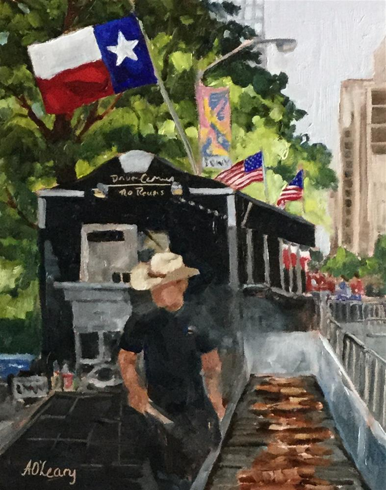 """Big Apple Bar B Que"" original fine art by Alice O'Leary"