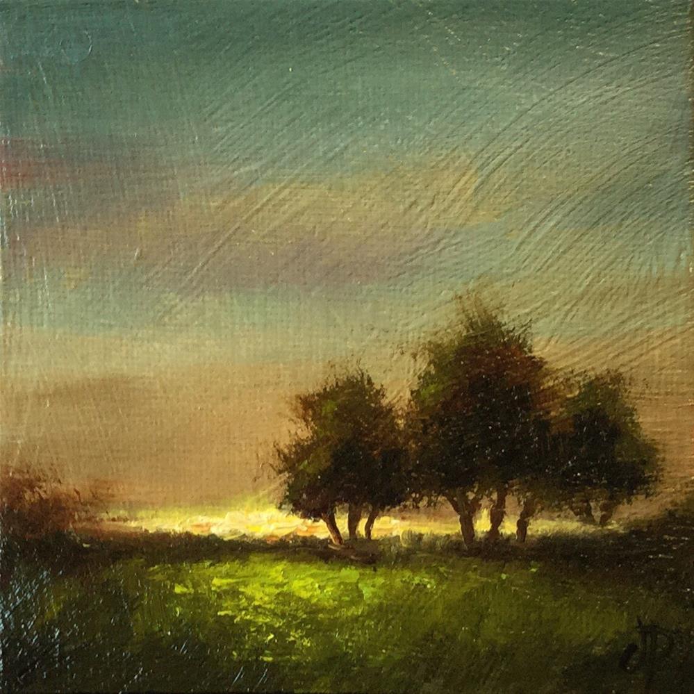 """Sunset trees"" original fine art by Jane Palmer"