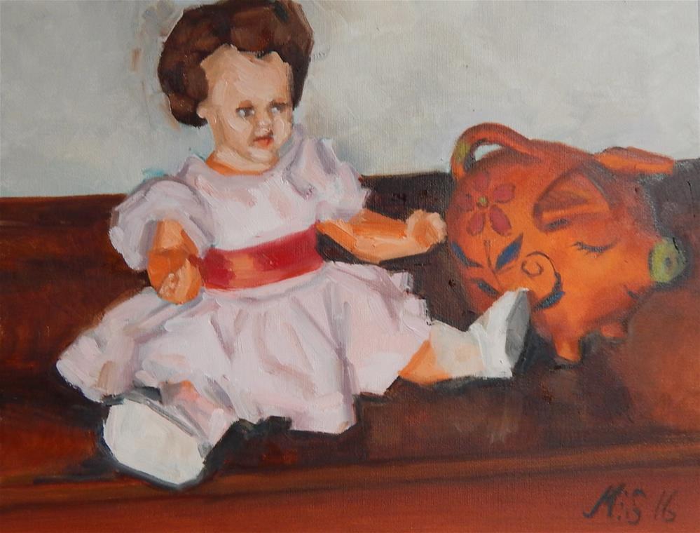 """Still Life With Toys"" original fine art by Megan Schembre"