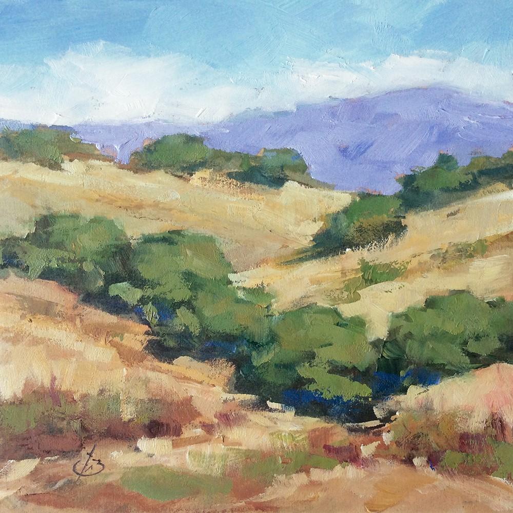 """CALIFORNIA LIVE OAKS"" original fine art by Tom Brown"