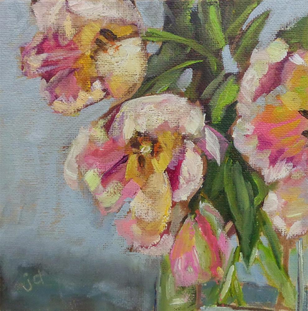 """Pleasant thoughts"" original fine art by Jean Delaney"