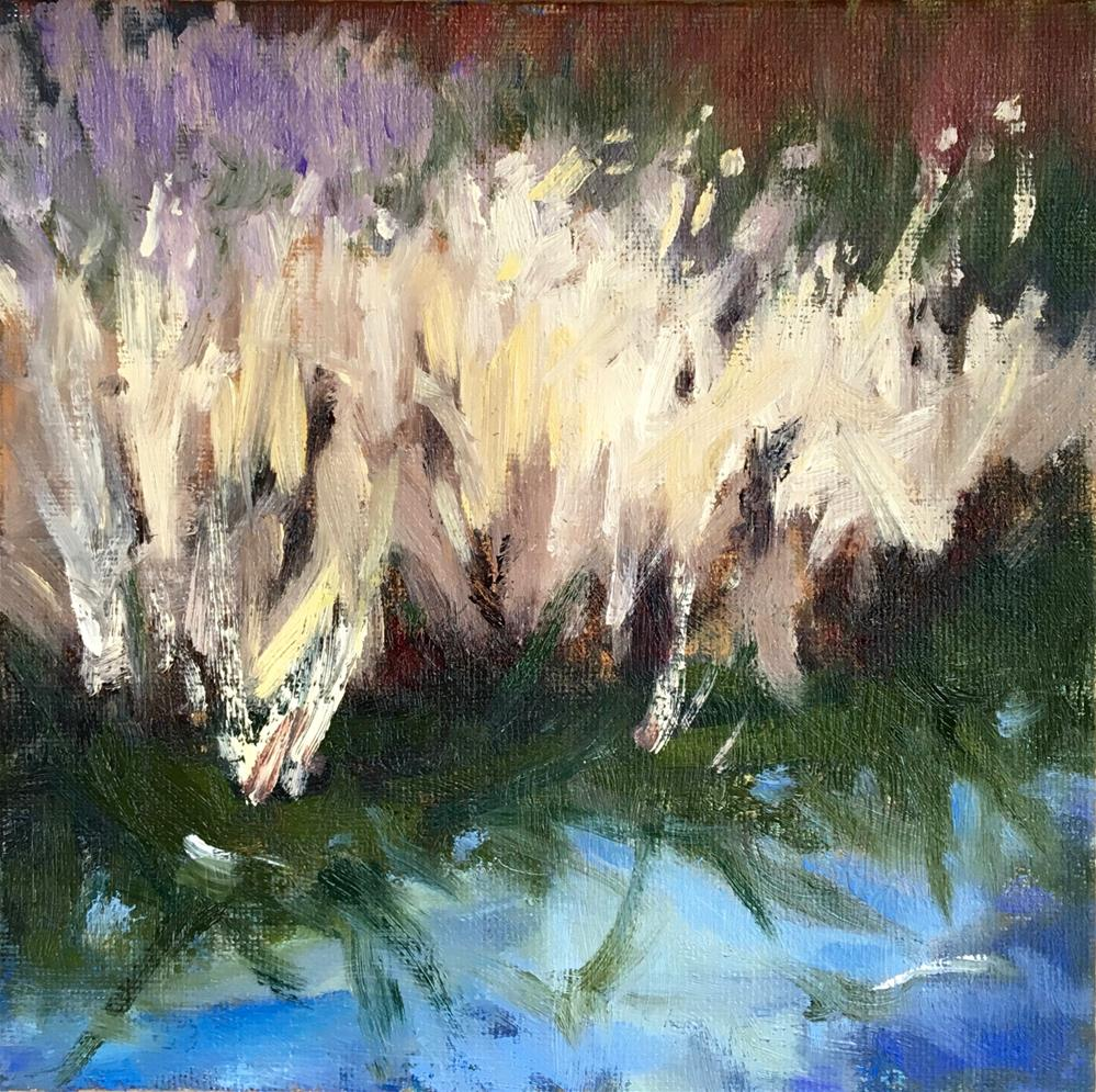 """Wetland Grasses"" original fine art by Victoria  Biedron"