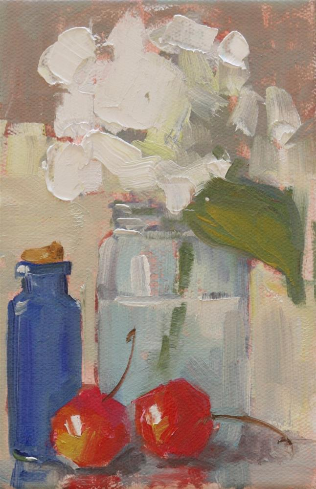 """red, white and blue"" original fine art by Carol Carmichael"