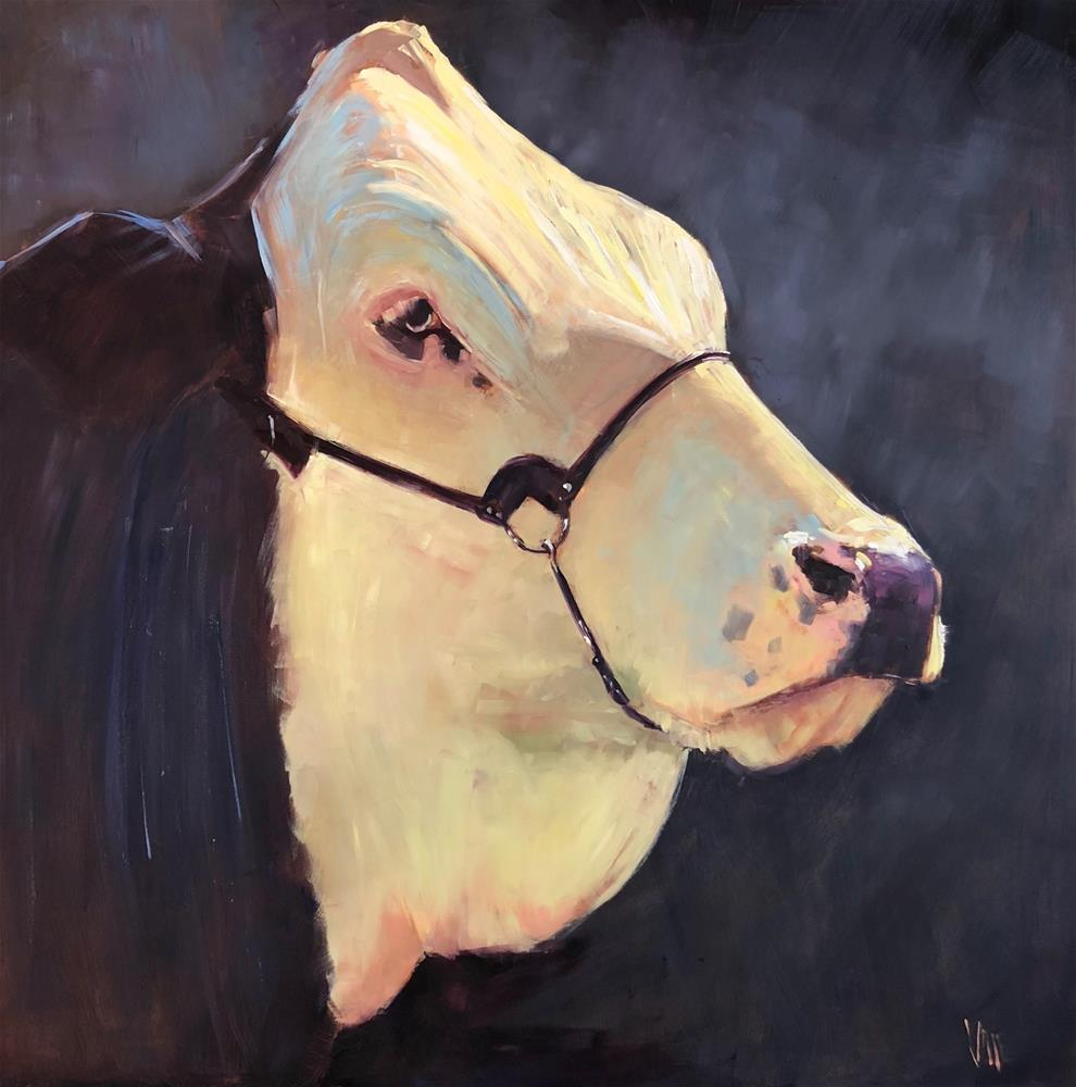 """Miss Murphy"" original fine art by Patty Voje"