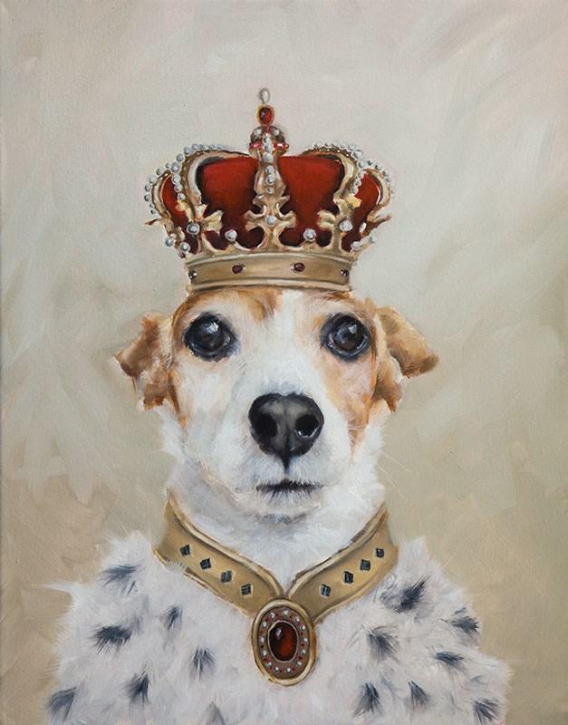 """""""King Jazzy"""" original fine art by Clair Hartmann"""