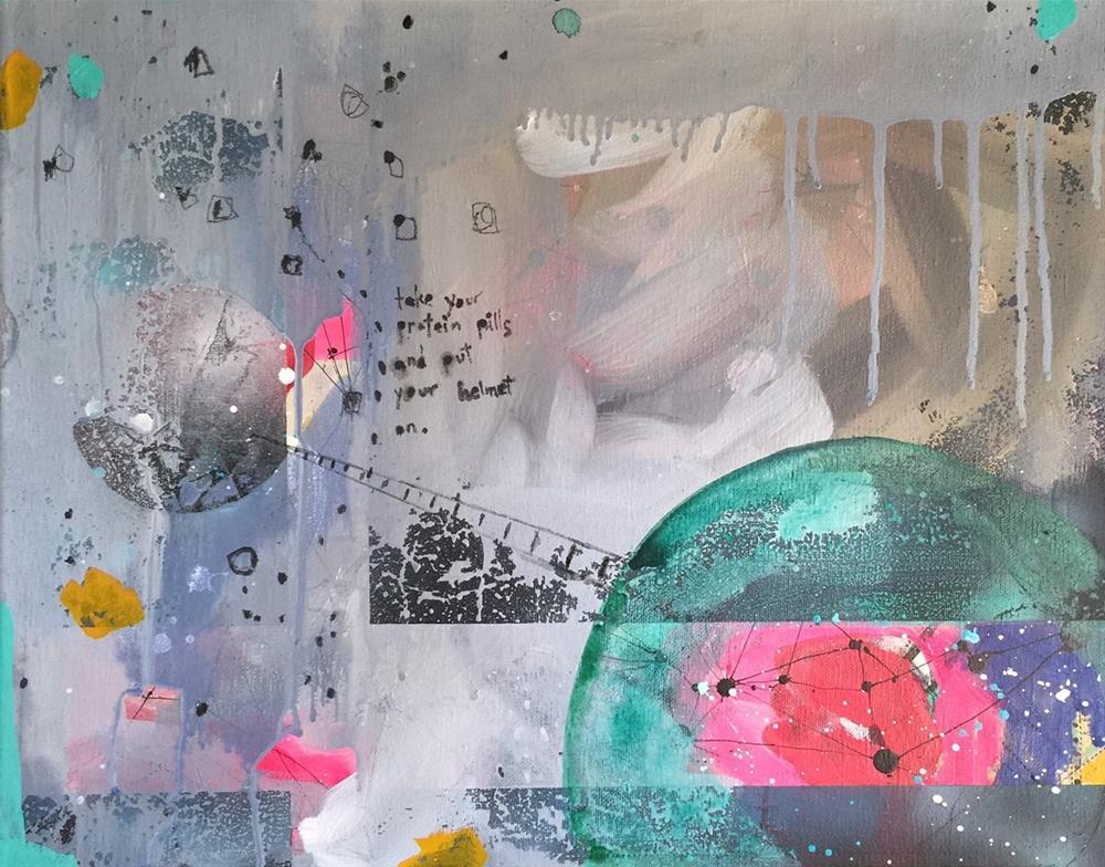 """141 Protein Pills"" original fine art by Jenny Doh"