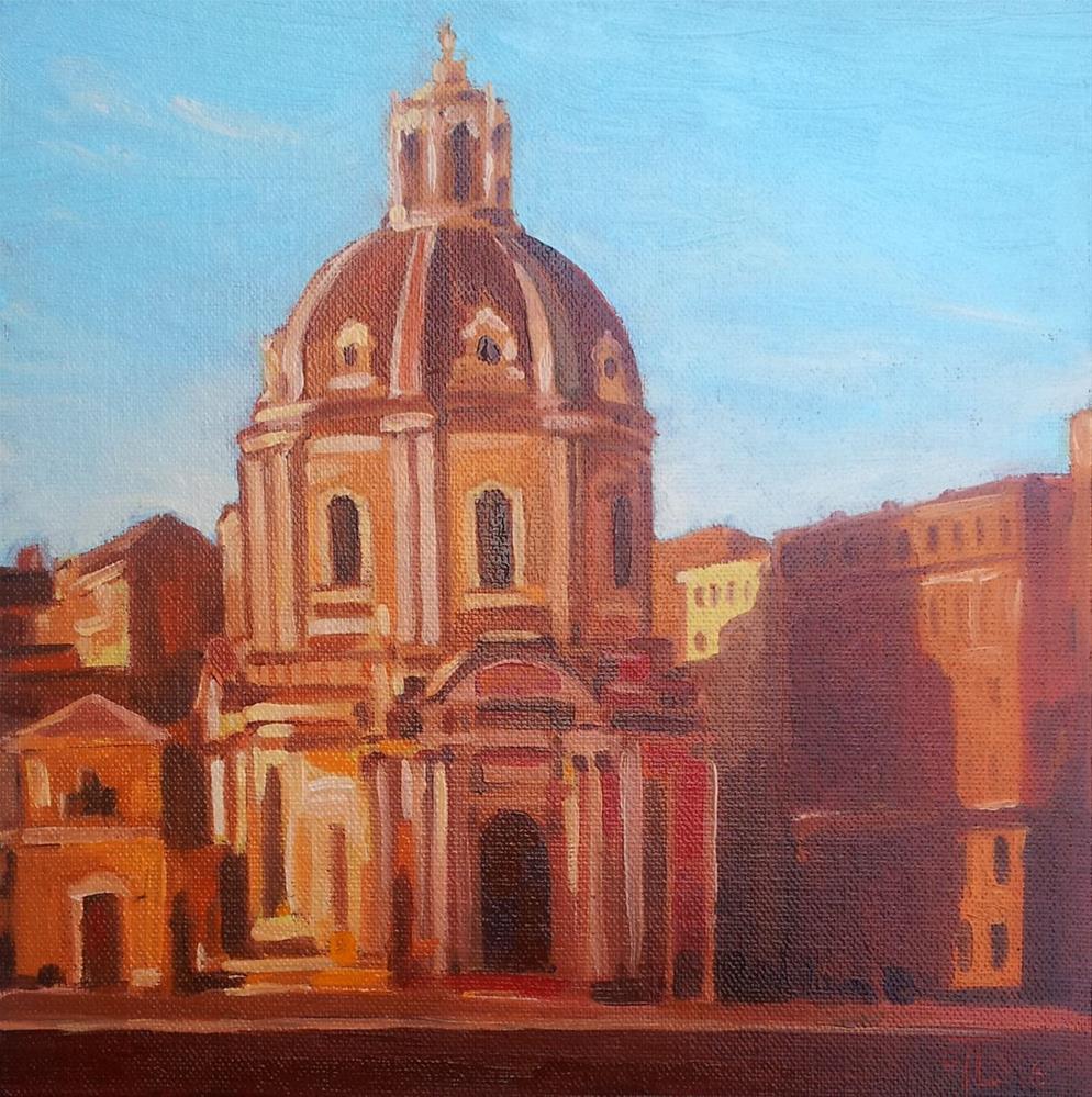 """DCS #30: Roman Evening (from Roman vacation)"" original fine art by Olga Touboltseva-Lefort"