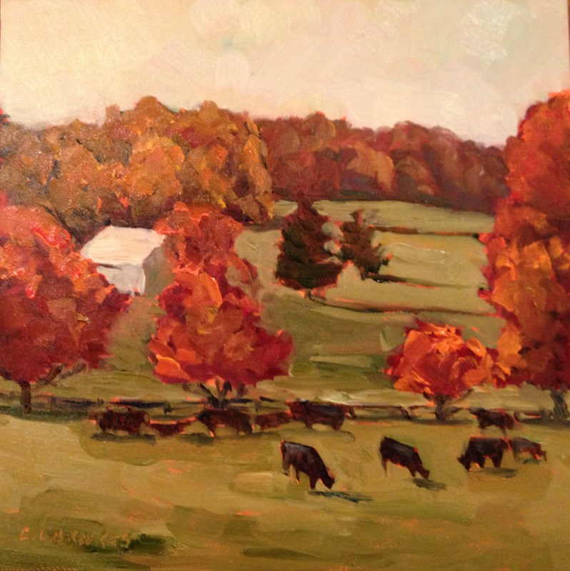 """Time for Maples, Day 34"" original fine art by Claudia L Brookes"