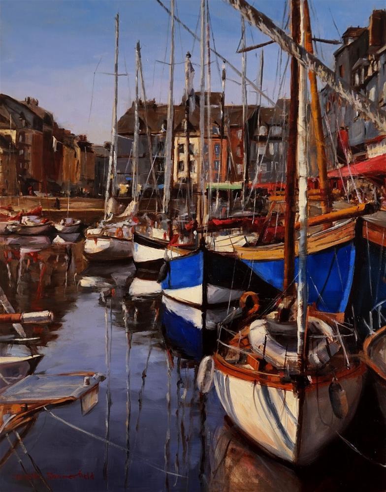 """Honfleur Marina"" original fine art by Jonelle Summerfield"