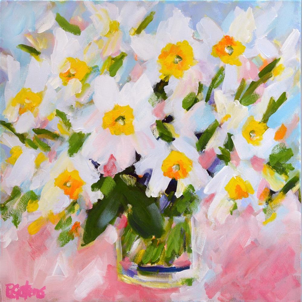"""Delicate Daffodils"" original fine art by Pamela Gatens"