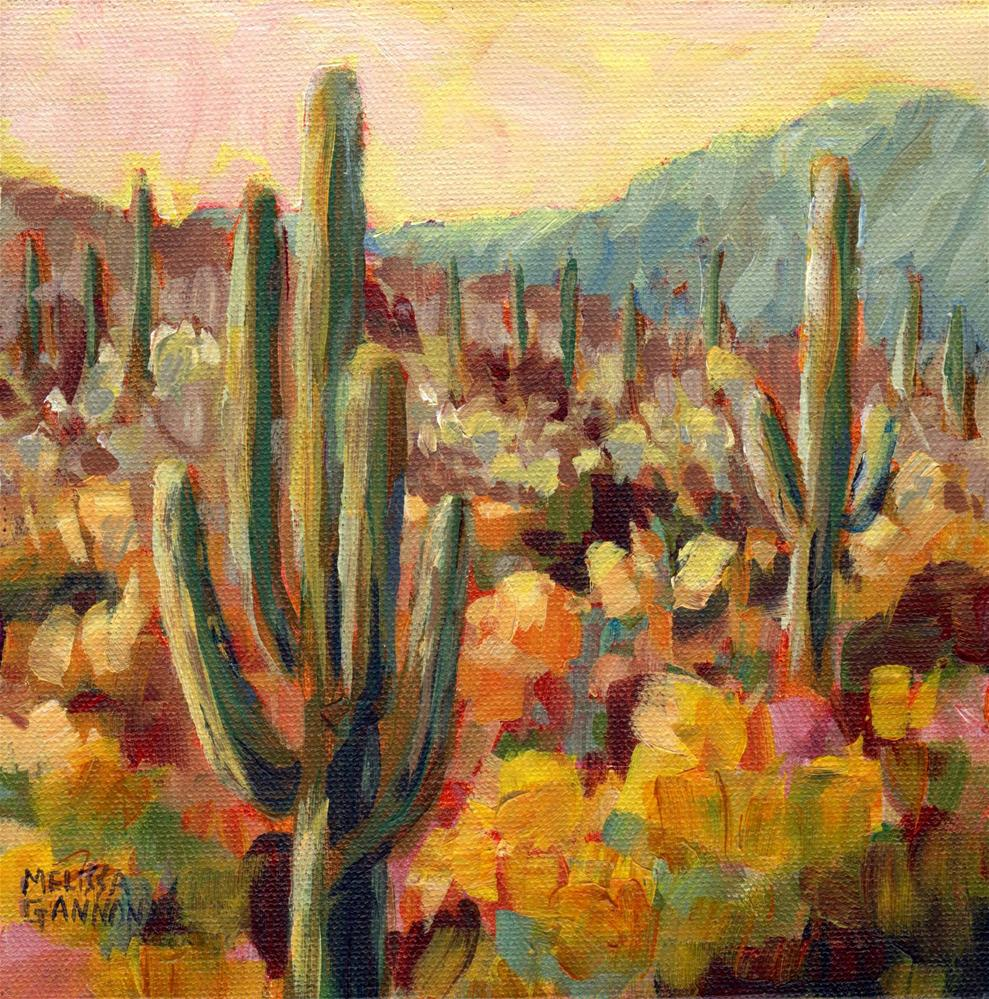 """Saguaro Home"" original fine art by Melissa Gannon"