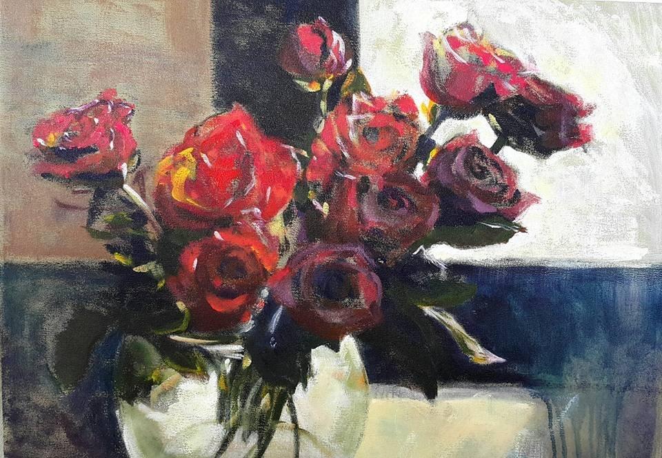 """Feeling romantic"" original fine art by Rentia Coetzee"