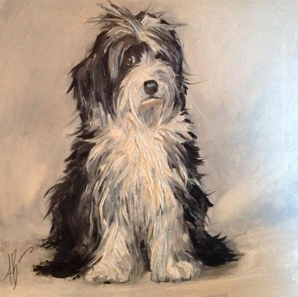 """Lab-a-doodle Portrait"" original fine art by Annette Balesteri"