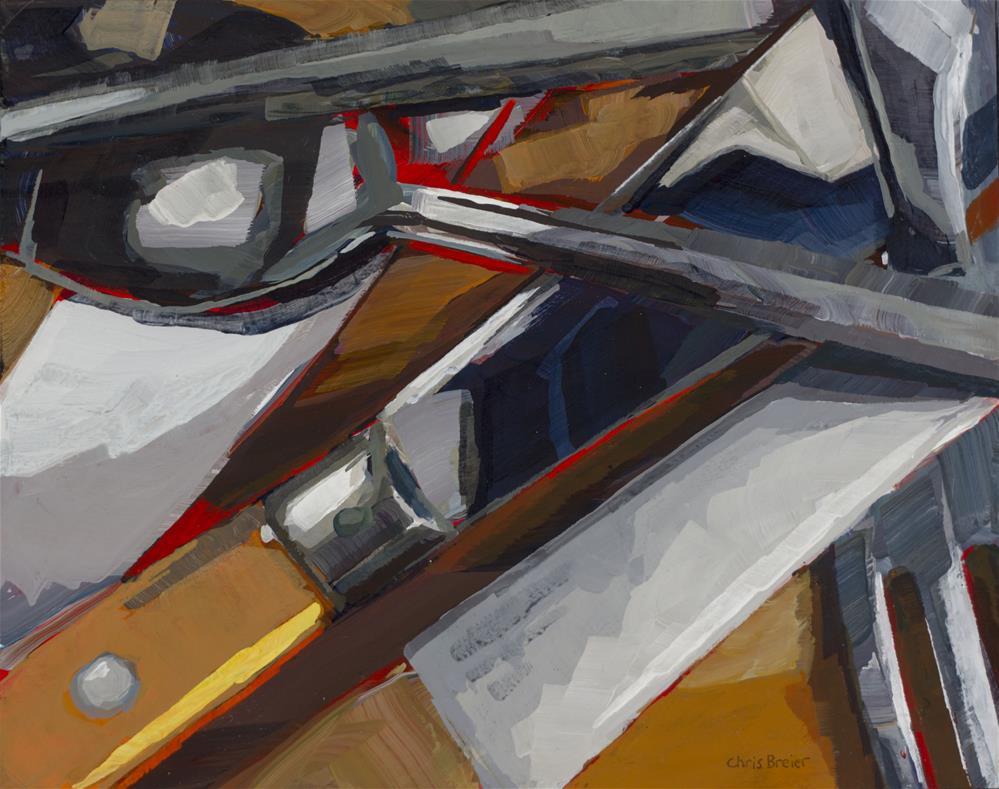 """Silverware"" original fine art by Chris Breier"