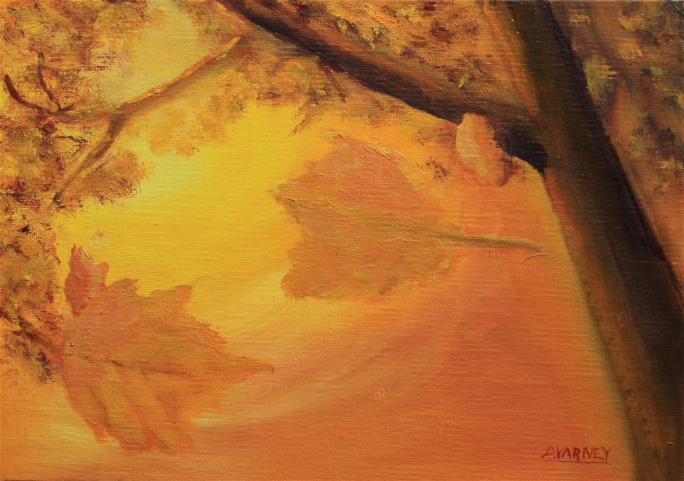 """Falling Leaves"" original fine art by Daniel Varney"