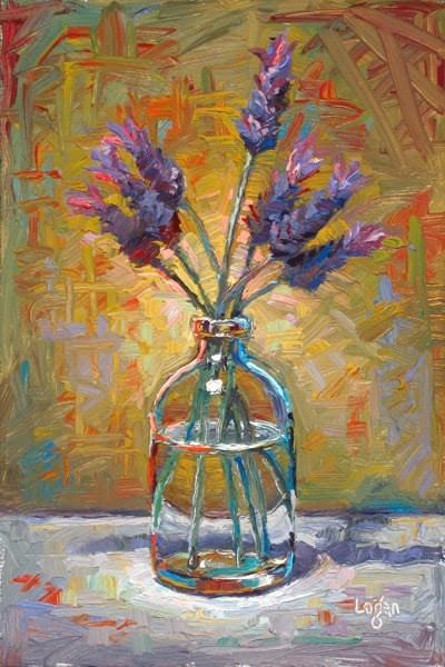 """Lavender in a Bottle"" original fine art by Raymond Logan"