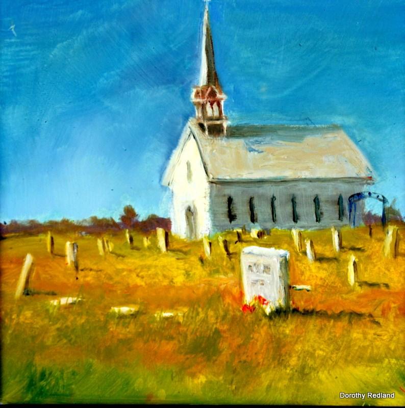 """Rest in peace"" original fine art by Dorothy Redland"