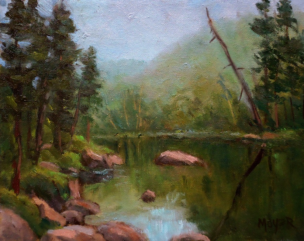 """""""Early morning on the Boise River"""" original fine art by Jim Moyer"""