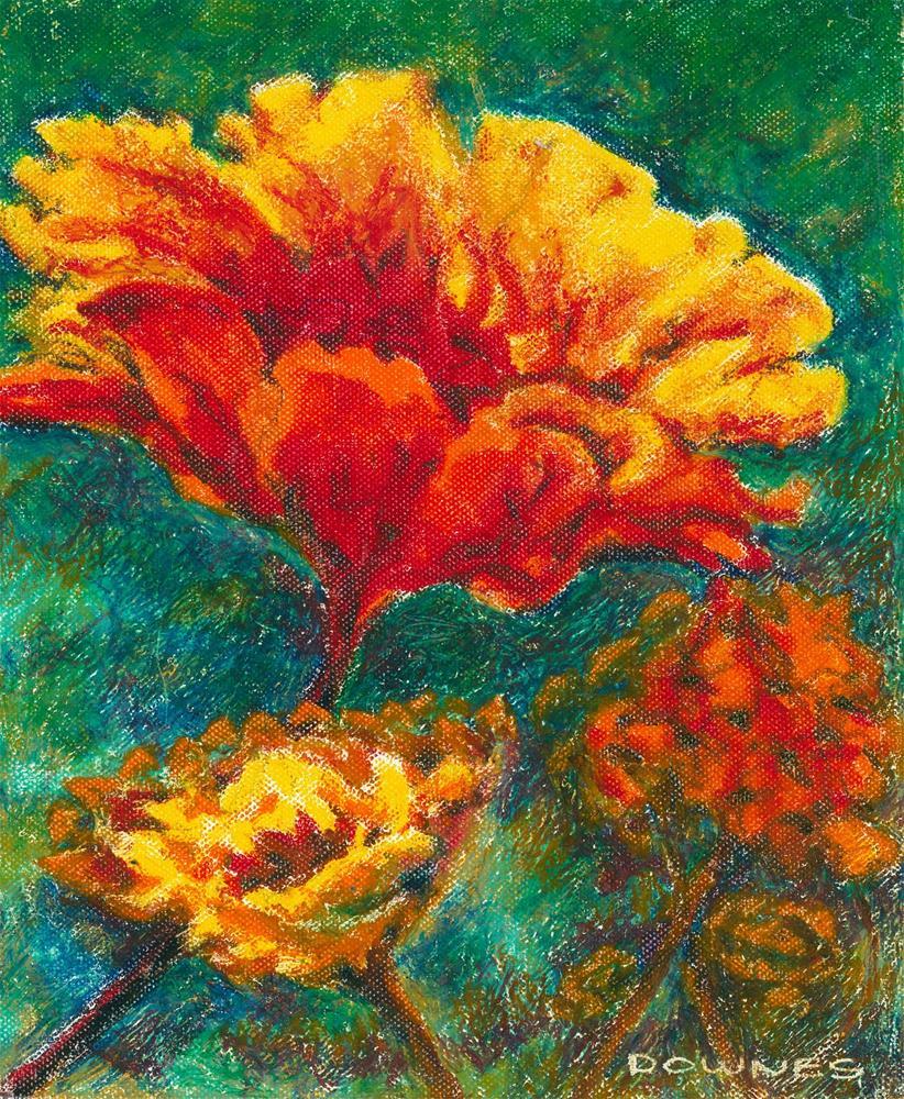 """132 FLOWERS STYLISED 6"" original fine art by Trevor Downes"