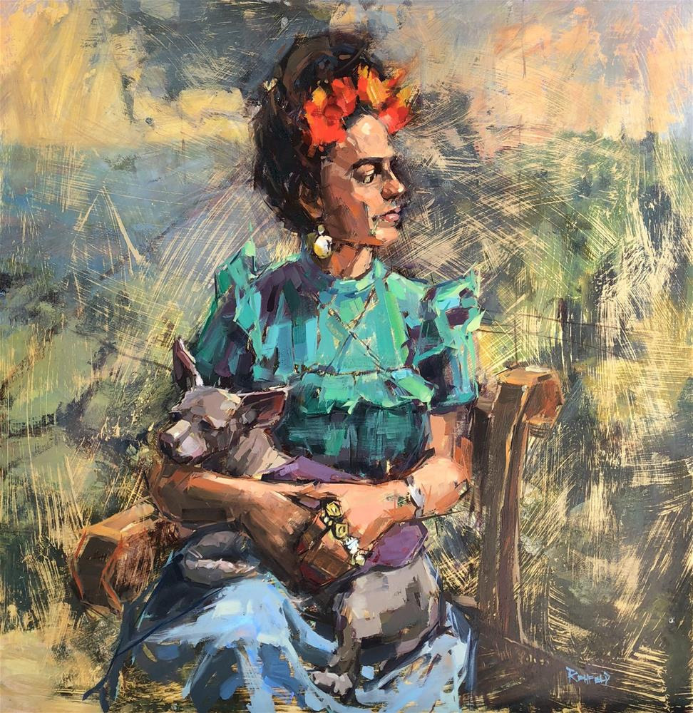 """Frida And Xolo"" original fine art by Cathleen Rehfeld"