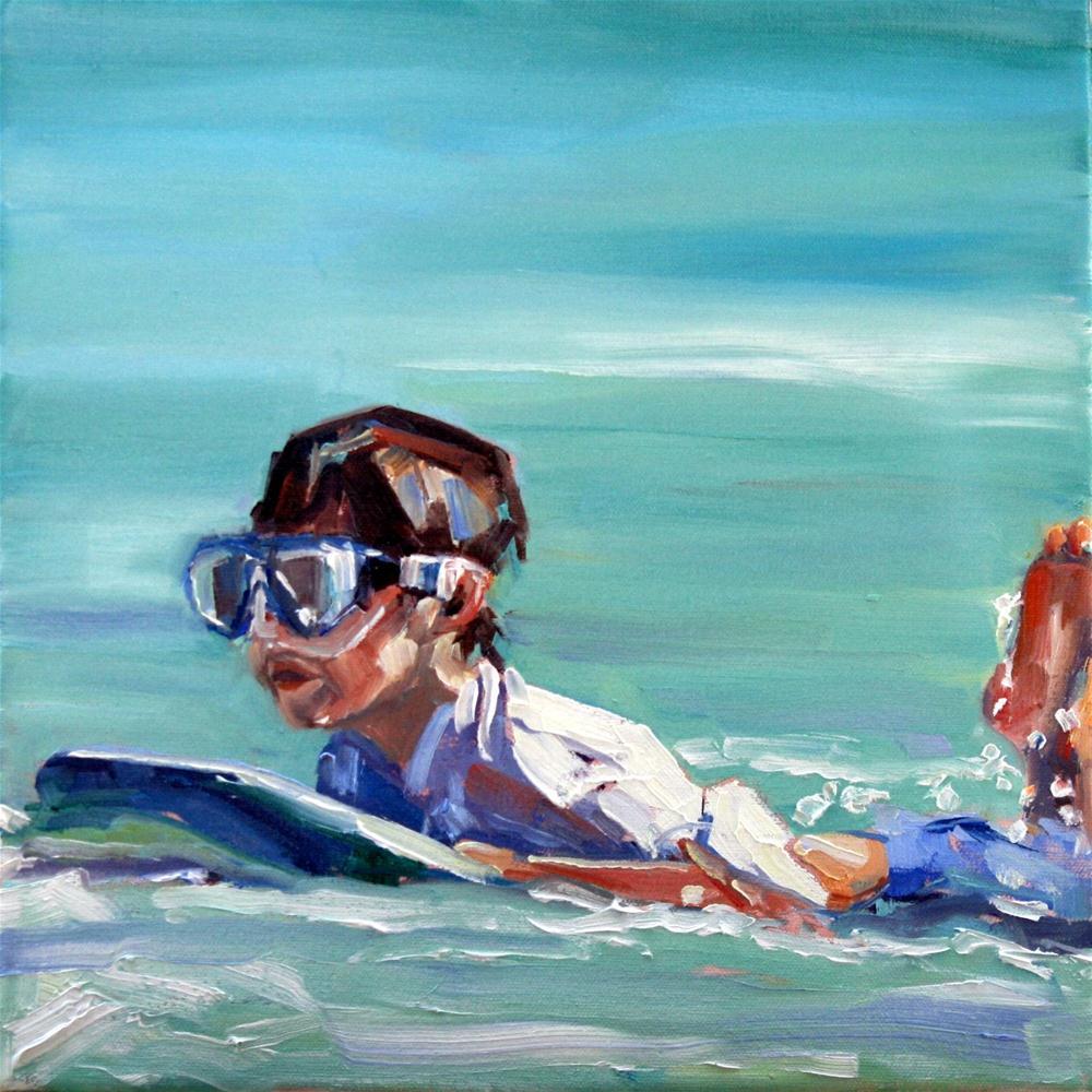 """""""coasting in"""" original fine art by Carol Carmichael"""