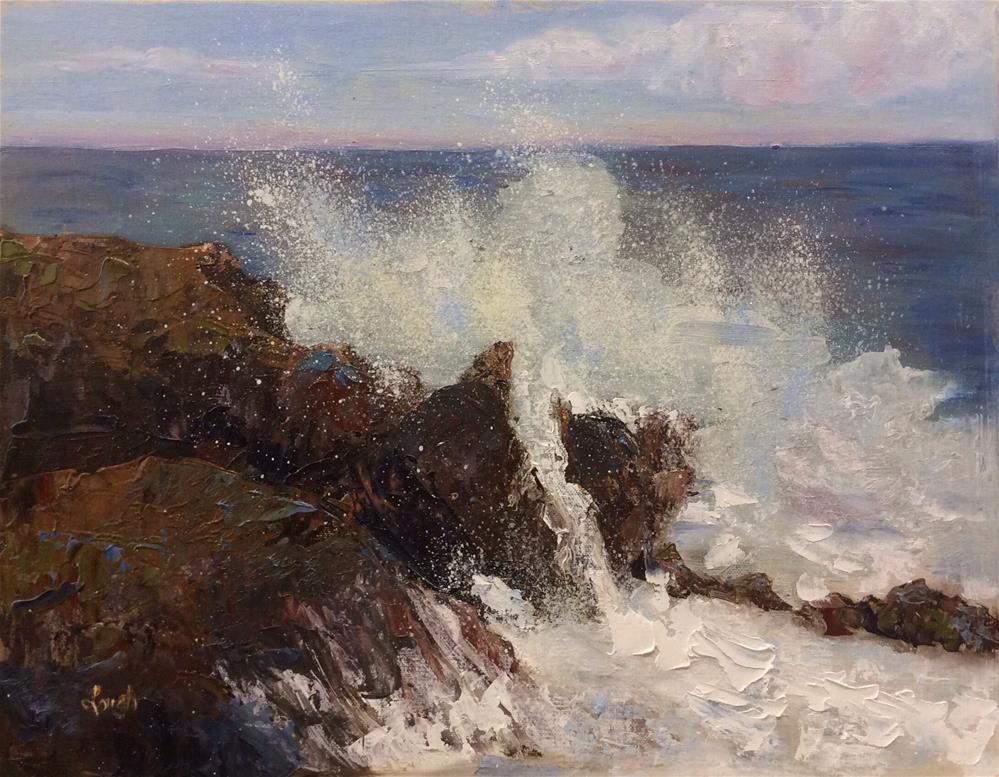 """Aruba Seascspe"" original fine art by Charlotte Lough"