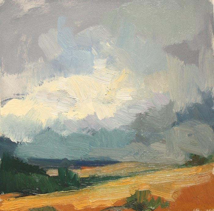 """Storm near Winthrop"" original fine art by Kathryn Townsend"